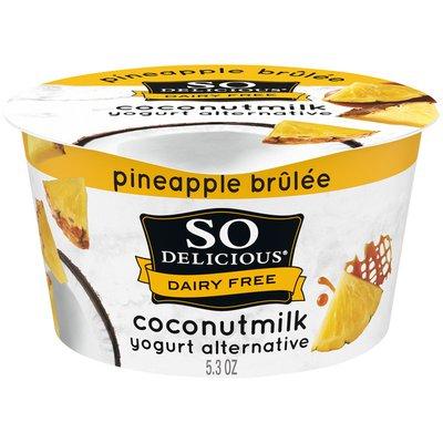 So Delicious Dairy Free Pineapple Brulee Coconut Milk Yogurt