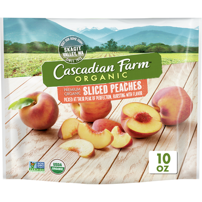 Cascadian Farm Organic Sliced Peaches, Premium Frozen Fruit, Non-GMO