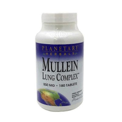Planetary Herbals Mullein Lung Complex 850 Mg Herbal Supplement Tablets