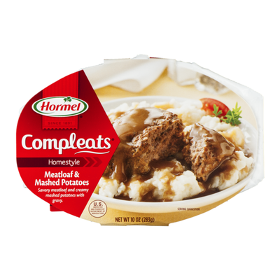 Hormel Meatloaf & Gravy with Mashed Potatoes