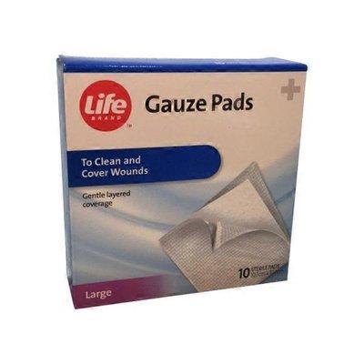 "Life Brand 10"" x 10"" Sterile Pads"