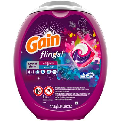 Gain Detergent, Scent Duet, Wildflower & Waterfall, Pacs