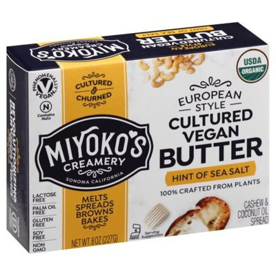 Miyokos Creamery Butter, Cultured Vegan, European Style