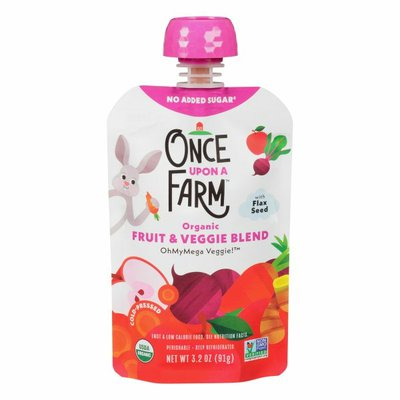 Once Upon a Farm Fruits & Veggie Blend, OhMyMegaVeggie, Cold-Pressed