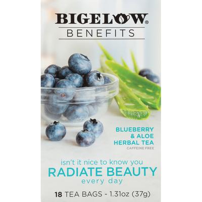 Bigelow Benefits Blueberry & Aloe Herbal Tea,Tea Bags