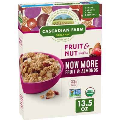 Cascadian Farm Organic Fruit and Nut Granola, Whole Grain Oats