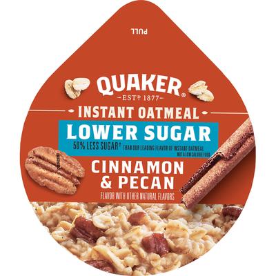 Quaker Instant Oatmeal, Lower Sugar, Cinnamon & Pecan