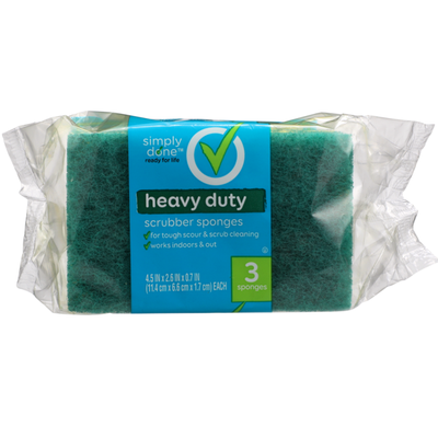 Simply Done Heavy Duty Scrubber Sponges