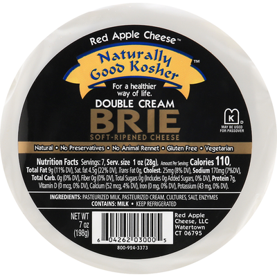 Apple Smoked Cheese Cheese, Soft-Ripened, Double Cream Brie