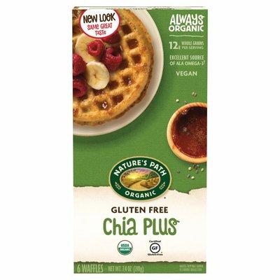 Nature's Path Organic Gluten Free Wheat Free Chia Plus Waffles