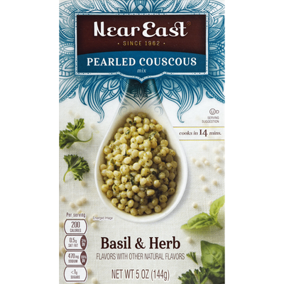 Near East Couscous Mix, Pearled, Basil & Herb Flavors