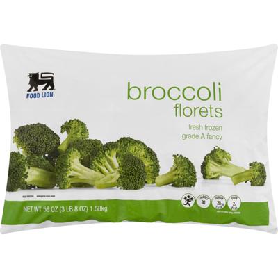 Food Lion Broccoli Florets, Bag