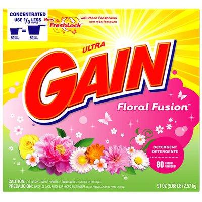 Gain with FreshLock Floral Fusion Powder Detergent