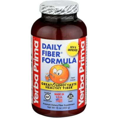 Yerba Prima Daily Fiber Formula, Orange Flavor