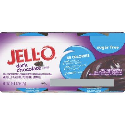 Jell-O Dark Chocolate Sugar Free Ready-to-Eat Pudding Snacks