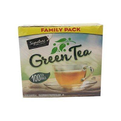 Signature Select Green Tea, Bags, Family Pack
