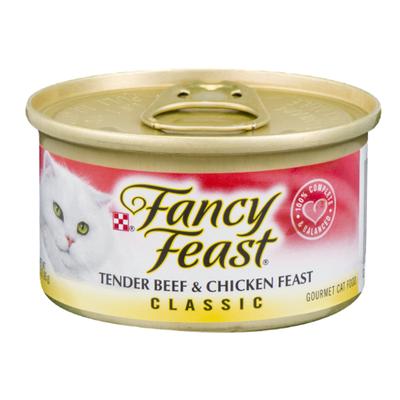 Fancy Feast Grain Free Pate Wet Cat Food, Tender Beef & Chicken Feast