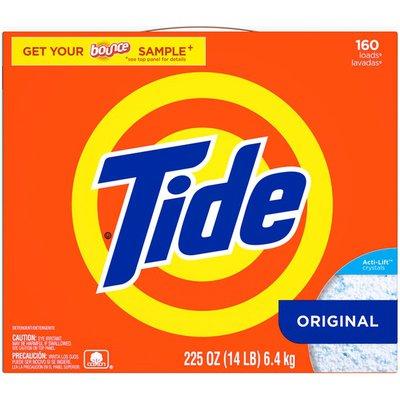 Tide Original HE Turbo Powder Laundry Detergent, 160 Loads, 225 Oz Laundry