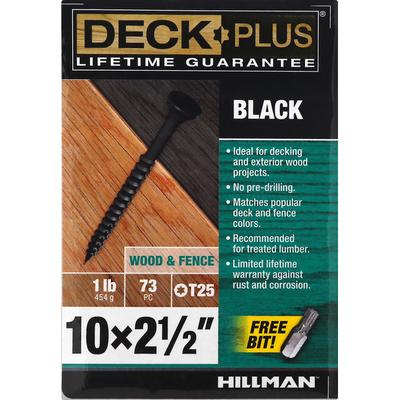 Deck Plus Screws, Wood & Fence, Black