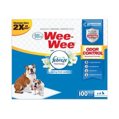 Wee-Wee Odor Control Pads With Febreze Freshness