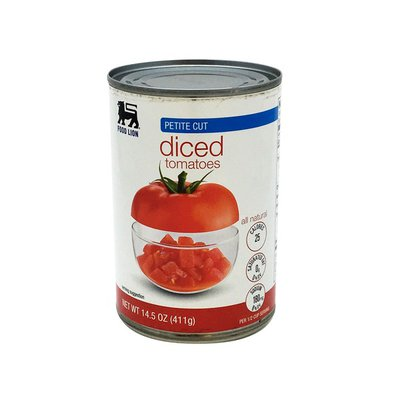 Food Lion Tomatoes, Diced, Petite Cut