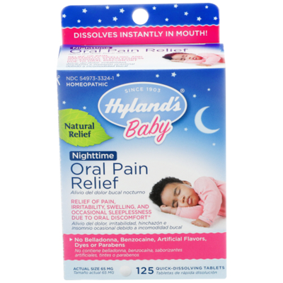 Hyland's Nighttime Oral Pain Relief Quick Dissolving Tablets