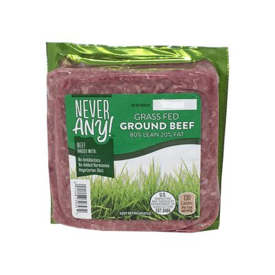 Never Any! 80% Lean 20% Fat Grass Fed Ground Beef