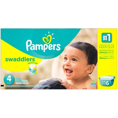 Pampers Swadlers Pampers Swaddlers Diapers Size 4 116 count Diapers
