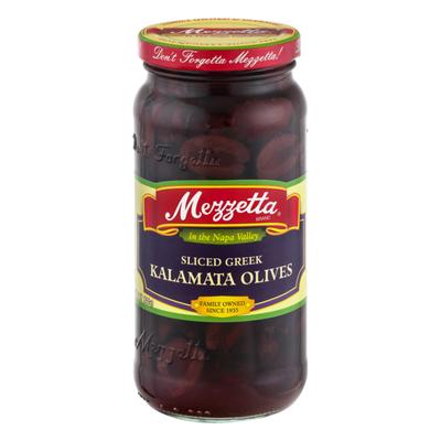Mezzetta Olives, Kalamata, Greek, Sliced