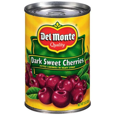 Del Monte Dark Sweet Pitted in Heavy Syrup Cherries
