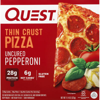 Quest Pizza, Uncured Pepperoni, Thin Crust