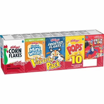 Kellogg's Breakfast Cereal, Single Serve Cereal To Go, Kids Snacks, Variety Pack