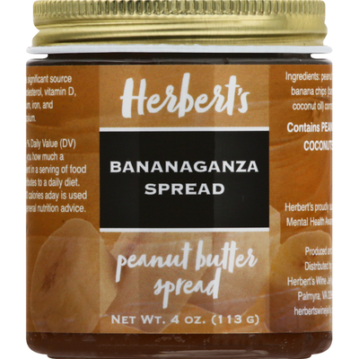 Herberts Peanut Butter Spread, Bananaganza Spread