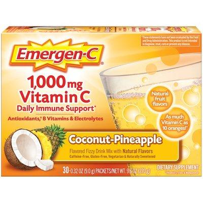 Emergen-C Vitamin C Fizzy Drink Mix Coconut Pineapple, Vitamin C Fizzy Drink Mix Coconut Pineapple