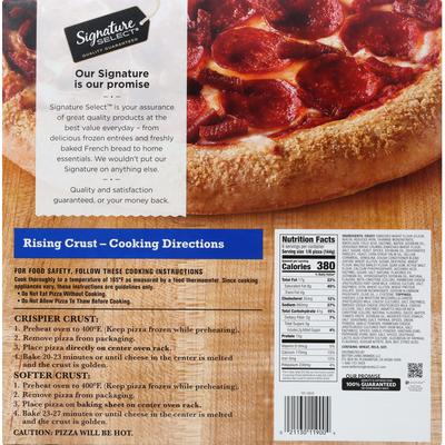 Signature Select Pizza, Pepperoni, Rising Crust
