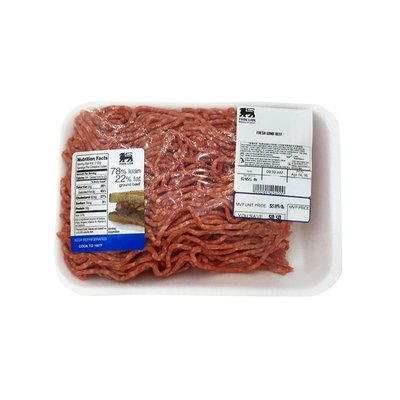 Food Lion Fresh Ground Beef, 78% Lean/22% fat