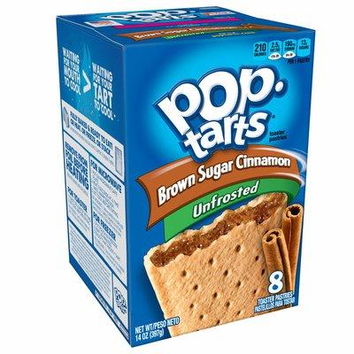 Kellogg's Pop-Tarts Breakfast Toaster Pastries, Unfrosted Brown Sugar Cinnamon