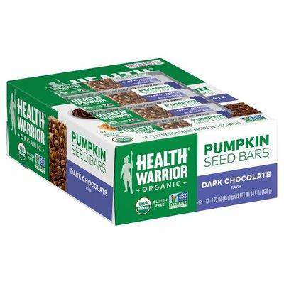 Health Warrior Pumpkin Seed Bars, Organic, Dark Chocolate Flavor
