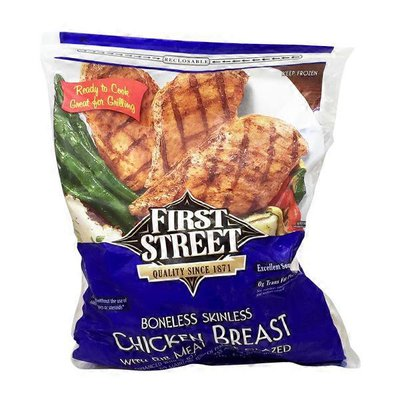 First Street Boneless Skinless Chicken Breast, Frozen