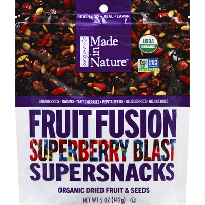 Made In Nature Supersnacks, Fruit Fusion, Superberry Blast