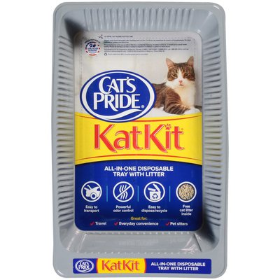 Cat's Pride Litter Tray, Disposable, All-in-One