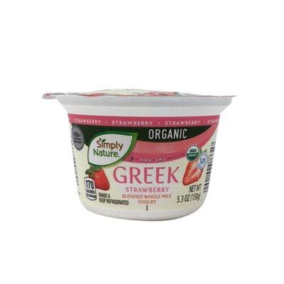 Simply Nature Organic Strawberry Blended Whole Milk Greek Yogurt