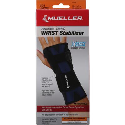 Mueller Wrist Stabilizer, Adjustable, Maximum, Small/Medium
