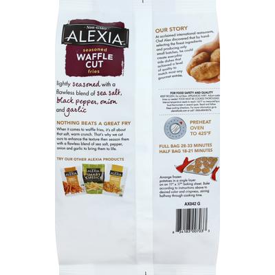 Alexia Fries, Seasoned, Waffle Cut
