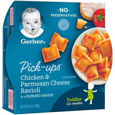 Gerber Chicken and Parmesan Cheese Ravioli in Tomato Sauce