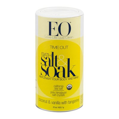 EO Products Time Out Bath Salt & Soak Coconut & Vanilla with Tangerine