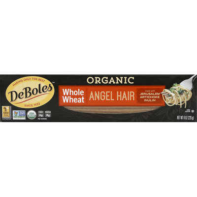 DeBoles Angel Hair, Organic, Whole Wheat