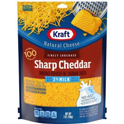 Kraft Sharp Cheddar Finely Shredded Cheese with 2% Milk