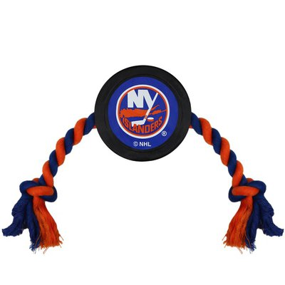 Pets First NHL New York Islanders Puck Toy for Dogs & Cats