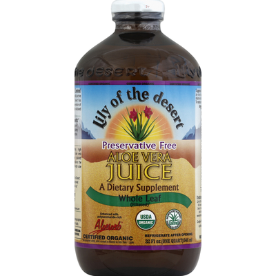 Lily of the Desert Aloe Vera Juice, Whole Leaf (Filtered)